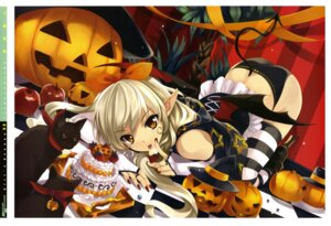 Rating: Questionable Score: 95 Tags: girl's_avenue halloween misaki_kurehito neko pantsu tail thighhighs User: Aurelia