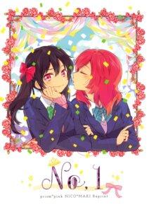 Rating: Safe Score: 13 Tags: karuha love_live! nishikino_maki prism*pink seifuku yazawa_nico yuri User: Radioactive