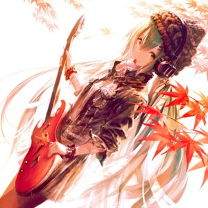 Rating: Safe Score: 45 Tags: garuku guitar hatsune_miku headphones pantyhose vocaloid User: Mr_GT