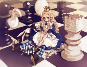 Rating: Safe Score: 17 Tags: alice alice_in_wonderland charlotte_francia cosplay dress littlewitch lolita_fashion oyari_ashito quartett! sketch thighhighs User: petopeto