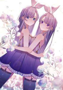 Rating: Safe Score: 26 Tags: dress simanerikotton stockings symmetrical_docking thighhighs yuri User: Dreista