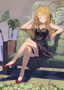 Rating: Safe Score: 42 Tags: cleavage dress headphones heels hoshii_miki shinjiro the_idolm@ster User: animeprincess