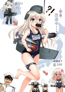 Rating: Questionable Score: 19 Tags: admiral_(kancolle) bismarck_(kancolle) bodysuit cameltoe feet kantai_collection prinz_eugen_(kancolle) ro-500 school_swimsuit swimsuits tan_lines u-511 y.ssanoha User: Mr_GT