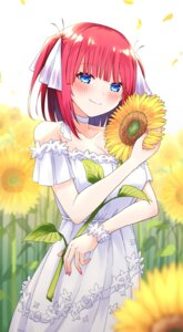 Rating: Safe Score: 12 Tags: 5-toubun_no_hanayome cleavage dress nakano_nino profnote summer_dress User: Mr_GT