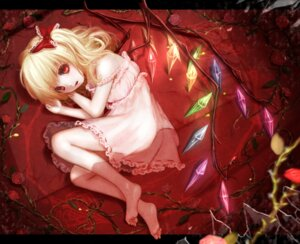 Rating: Questionable Score: 53 Tags: dress feet flandre_scarlet hoshibuchi loli touhou wings User: Mr_GT