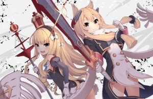 Rating: Questionable Score: 45 Tags: animal_ears azur_lane neme1228 pantsu queen_elizabeth_(azur_lane) skirt_lift string_panties sword uniform warspite_(azur_lane) weapon User: sym455
