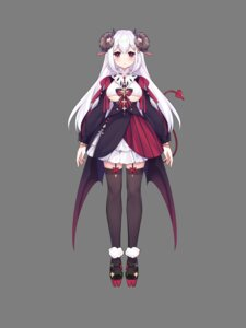 Rating: Questionable Score: 16 Tags: animal_ears devil dress eta horns no_bra stockings tail thighhighs transparent_png wings User: whitespace1