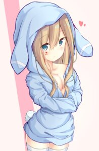 Rating: Questionable Score: 23 Tags: animal_ears bunny_ears girls_frontline meimei_(suiginto6106) no_bra open_shirt suomi_kp31_(girls_frontline) tail thighhighs User: BattlequeenYume