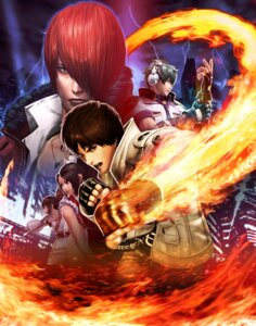 Rating: Safe Score: 9 Tags: headphones king_of_fighters kusanagi_kyou nakoruru shiranui_mai tagme weapon yagami_iori User: Radioactive