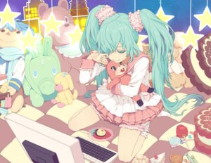 Rating: Safe Score: 22 Tags: hatsune_miku kaito lots_of_laugh_(vocaloid) nayu vocaloid User: yumichi-sama