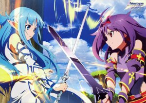 Rating: Safe Score: 63 Tags: alfheim_online asuna_(sword_art_online) dress konno_yuuki pointy_ears suzuki_kanta sword sword_art_online User: drop