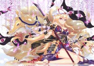 Rating: Safe Score: 43 Tags: armor feet kimono pc99527 sword touhou weapon yakumo_yukari User: Mr_GT