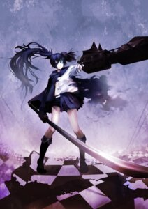 Rating: Safe Score: 17 Tags: black_rock_shooter black_rock_shooter_(character) jiong_tu kuroi_mato sword vocaloid User: Radioactive