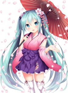 Rating: Safe Score: 63 Tags: etou hatsune_miku japanese_clothes thighhighs vocaloid User: fairyren