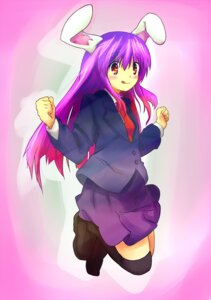Rating: Safe Score: 7 Tags: animal_ears bunny_ears ema20 reisen_udongein_inaba thighhighs touhou User: Nekotsúh
