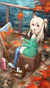 Rating: Questionable Score: 32 Tags: fate/kaleid_liner_prisma_illya fate/stay_night illyasviel_von_einzbern sweater tagme thighhighs User: Radioactive