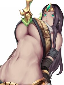 Rating: Questionable Score: 44 Tags: kumiko_shiba league_of_legends no_bra shirt_lift sivir weapon User: BattlequeenYume