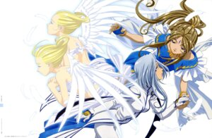 Rating: Safe Score: 22 Tags: ah_my_goddess belldandy cool_mint lind matsubara_hidenori spear_mint User: Radioactive