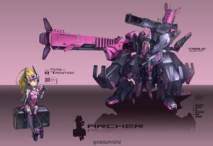 Rating: Safe Score: 21 Tags: bodysuit mecha mecha_musume observerz thighhighs User: Radioactive