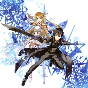 Rating: Safe Score: 29 Tags: abec armor asuna_(sword_art_online) kirito sword sword_art_online thighhighs User: drop