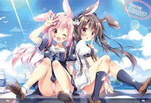 Rating: Questionable Score: 46 Tags: animal_ears bunny_ears cameltoe pan pantsu seifuku User: kiyoe