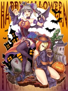 Rating: Safe Score: 17 Tags: cleavage halloween heels kanzaki_ranko no_bra sarashi shao_(newton) shirasaka_koume the_idolm@ster the_idolm@ster_cinderella_girls thighhighs wings User: Mr_GT