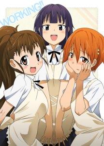 Rating: Safe Score: 12 Tags: inami_mahiru taneshima_poplar utamaro working!! yamada_aoi User: koyukidono