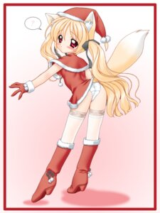 Rating: Questionable Score: 20 Tags: animal_ears christmas kitsune loli nakajima_konta pantsu thighhighs User: Radioactive