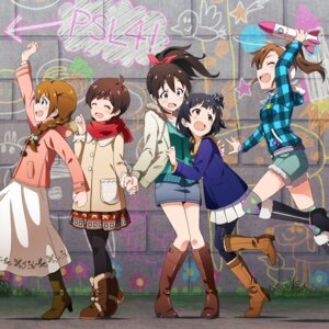 Rating: Safe Score: 24 Tags: baba_konomi digital_version disc_cover futami_mami heels kinoshita_hinata nakatani_iku pantyhose satake_minako the_idolm@ster the_idolm@ster_million_live! User: Anonymous