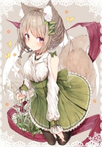 Rating: Safe Score: 55 Tags: animal_ears mayogii skirt_lift tail User: Mr_GT