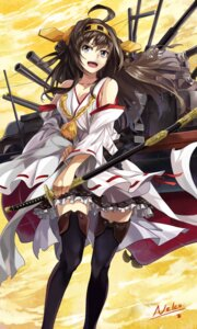 Rating: Safe Score: 63 Tags: cleavage kantai_collection kongou_(kancolle) neko_(yanshoujie) sword thighhighs User: Radioactive