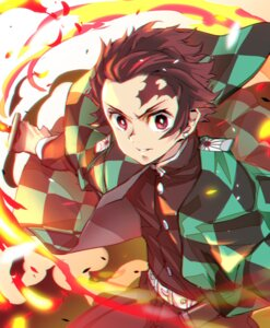 Rating: Safe Score: 7 Tags: hong_(white_spider) kamado_tanjirou kimetsu_no_yaiba male sword User: mash