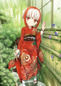 Rating: Safe Score: 48 Tags: cura kimono lose monobeno sumi_(monobeno) umbrella User: Twinsenzw