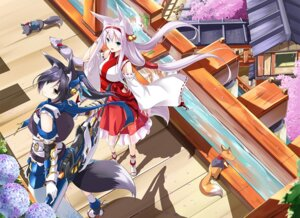 Rating: Safe Score: 51 Tags: animal_ears fatke kitsune miko sword tail weapon User: 椎名深夏
