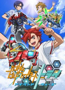 Rating: Safe Score: 10 Tags: bike_shorts cleavage gundam gundam_build_fighters gundam_build_fighters_try hoshino_fumina jpeg_artifacts kamiki_sekai kousaka_yuuma mecha megane User: rx178aeug