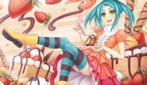 Rating: Safe Score: 20 Tags: monogatari_(series) ononoki_yotsugi sunimu thighhighs User: Mr_GT