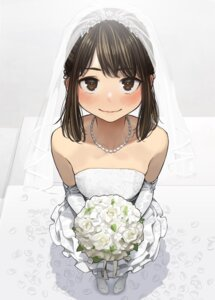 Rating: Safe Score: 29 Tags: dress ganbare_douki-chan no_bra wedding_dress yom User: Mr_GT