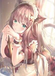 Rating: Safe Score: 74 Tags: animal_ears maid nekomimi tail topia User: Twinsenzw