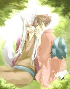 Rating: Safe Score: 12 Tags: animal_ears hetzosh kamisama_hajimemashita kimono momozono_nanami tomoe_(kamisama_hajimemashita) User: charunetra