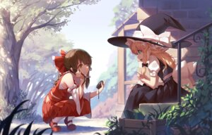 Rating: Safe Score: 86 Tags: hakurei_reimu kirisame_marisa nian sarashi touhou witch User: Mr_GT
