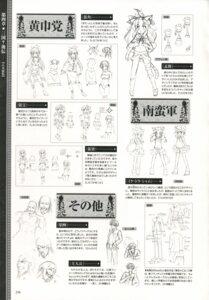 Rating: Safe Score: 3 Tags: baseson character_design chouhou choukaku chouryou chousen expression koihime_musou mike_(koihime_musou) monochrome moukaku shamu sketch tora_(koihime_musou) User: admin2