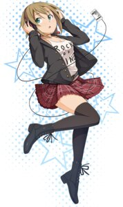Rating: Safe Score: 21 Tags: headphones pinkwaters tada_riina the_idolm@ster the_idolm@ster_cinderella_girls thighhighs User: Radioactive
