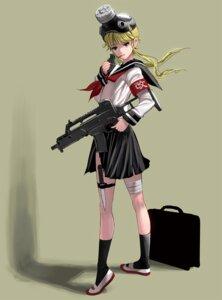 Rating: Safe Score: 20 Tags: bandages gun masao seifuku torn_clothes User: Radioactive