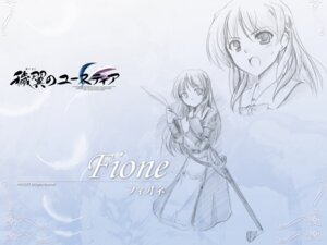 Rating: Safe Score: 7 Tags: aiyoku_no_eustia august bekkankou fione_silvaria sketch wallpaper User: Devard
