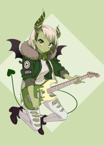 Rating: Safe Score: 11 Tags: guitar heels horns pointy_ears tail torn_clothes westxost_(68monkey) wings User: charunetra