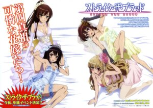 Rating: Questionable Score: 100 Tags: aiba_asagi cleavage dress garter himeragi_yukina imoto_yuki kirasaka_sayaka strike_the_blood wedding_dress yuuma_tokoyogi User: drop