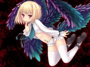 Rating: Safe Score: 43 Tags: beatmania beatmania_iidx bemani rche ryo_(botsugo) thighhighs wings User: fairyren