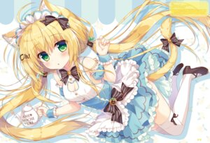 Rating: Safe Score: 42 Tags: ame_to_yuki animal_ears choco_mint_(ame_to_yuki) cleavage heels maid tail thighhighs User: Twinsenzw