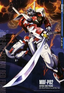 Rating: Safe Score: 19 Tags: gundam gundam_astray_red_frame gundam_seed_astray mecha sword ueda_youichi User: drop