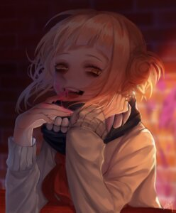 Rating: Safe Score: 21 Tags: boku_no_hero_academia lisa_yan seifuku sweater toga_himiko User: charunetra